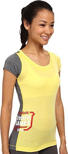 Reebok Women's CrossFit? 2014 Games Tri-Blend Tee Yellow/Reebok Navy T-Shirt LG