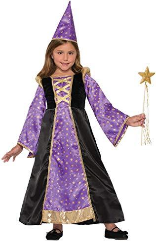 Forum Novelties Kids Winsome Wizard Costume, Purple, Small -