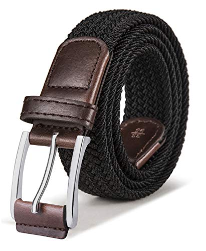Stretch Belt Men,Bulliant Mens Woven Stretch Braided Belt 1 3/8,Multicolors ()