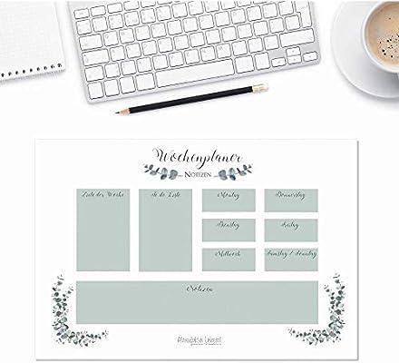 Tapete de escritorio de papel en formato A3, planificador semanal ...