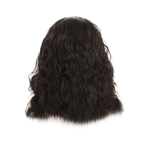 FILOL Curly Wigs, Black Deep Wave Lace Long Wavy Resistant Synthetic Wigs Hair Cosplay Daily Party Anime Hair Wig High Temperature Fiber (L) ()
