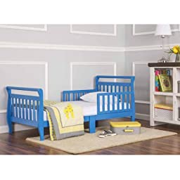 Dream On Me Sleigh Toddler Bed | Toddler Bed is Perfect Transition for Toddlers - Set Low to the Ground, Wave Blue