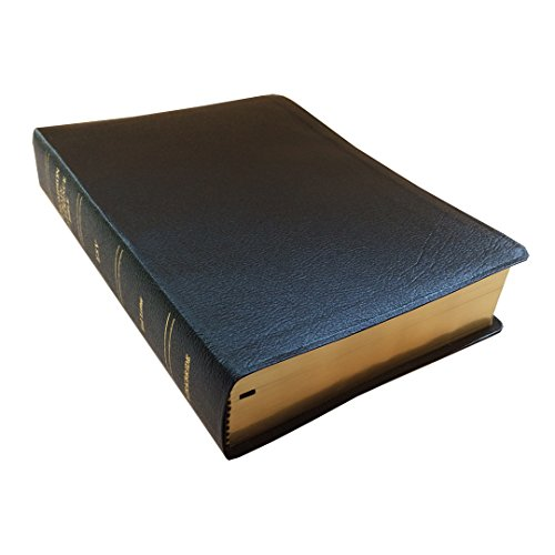 ESV - Black Genuine Leather - Regular Size - Indexed - Thompson Chain Reference Bible (021060)