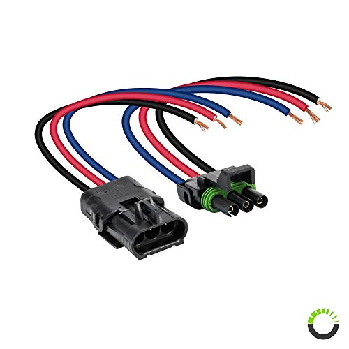 ONLINE LED STORE 3-Wire Weather Pack Connector Kit Assembled with 10