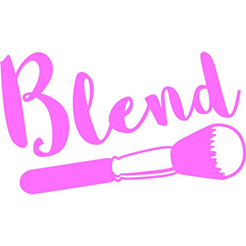 Blend Makeup Artist Vinyl Decal Sticker | Cars Trucks Vans Walls Laptops Cups | Pink | 7.5 in | KCD893P