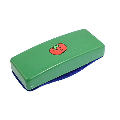 Uxcell Plastic Shell Velvet Blackboard Eraser/Chalk Cleaner Tool, Green Blue