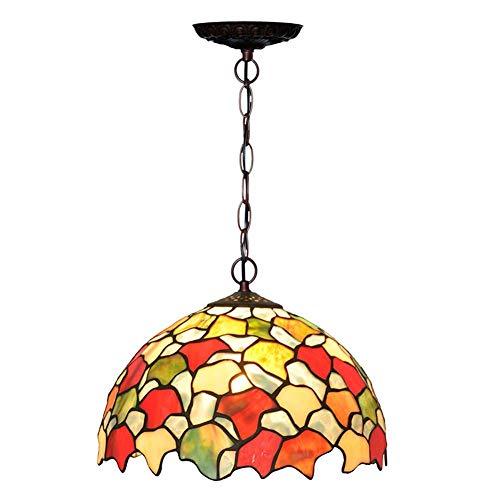 Tiffany Suspension Lamp - XNCH Tiffany Style Pendant Lamp Maple Leaf Design Glass Art Chandelier, Living Room Bedroom ning Room Pendant Lights