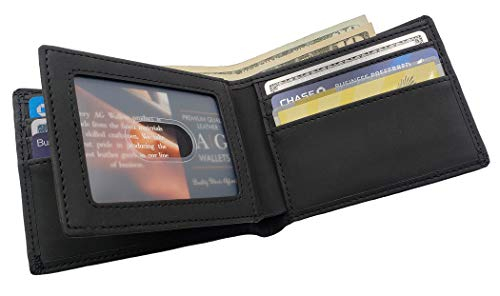 Wallets Leather Bifold Wallet Protection