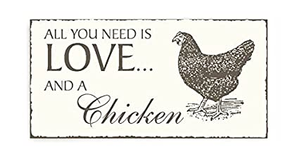Placa decorativa, « pollo gallina EI » Shabby Vintage placa ...
