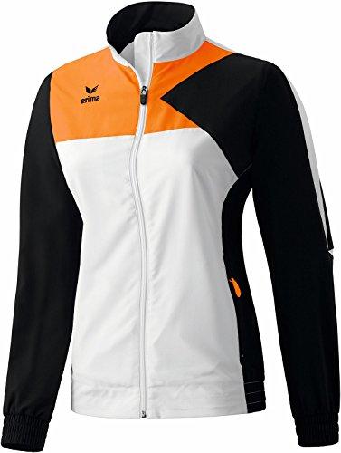 erima Anzug Premium One Präsentationsjacke - Prenda, color (Weiß/Schwarz/Neon Orange), talla DE: 42