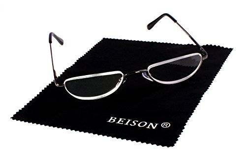 2e33a3851f 9 · Beison Half Moon Readers Half Rimless Reading Glasses (Grey