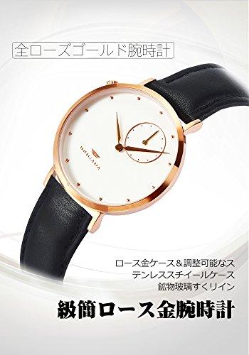 8373e9dbfb24 BRIGADA 高級 薄い 時計 レディース ブランド 人気、ブラウン 可愛い ファッション 腕時計 レディース ブランド 人気、