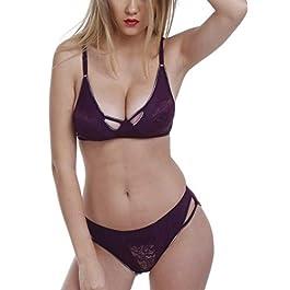 FIMS – Fashion is my style Satin Nylon Lycra Spandex (4WAY) Bikini Set for Women for Beach Lingerie for Women Sexy…