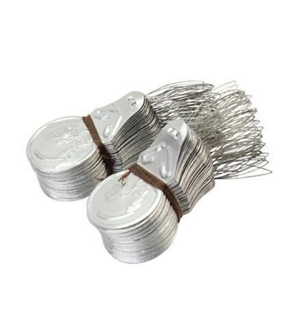 Haodou 100 piezas / set Enhebrador de agujas plata para máquina de coser y hecha a mano: Amazon.es: Hogar