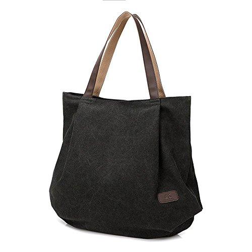 Aoligei Sac en toile douce, féminine, mode rétro, sac en bandoulière unique loisir centaines pack sacs de printemps et d'été E