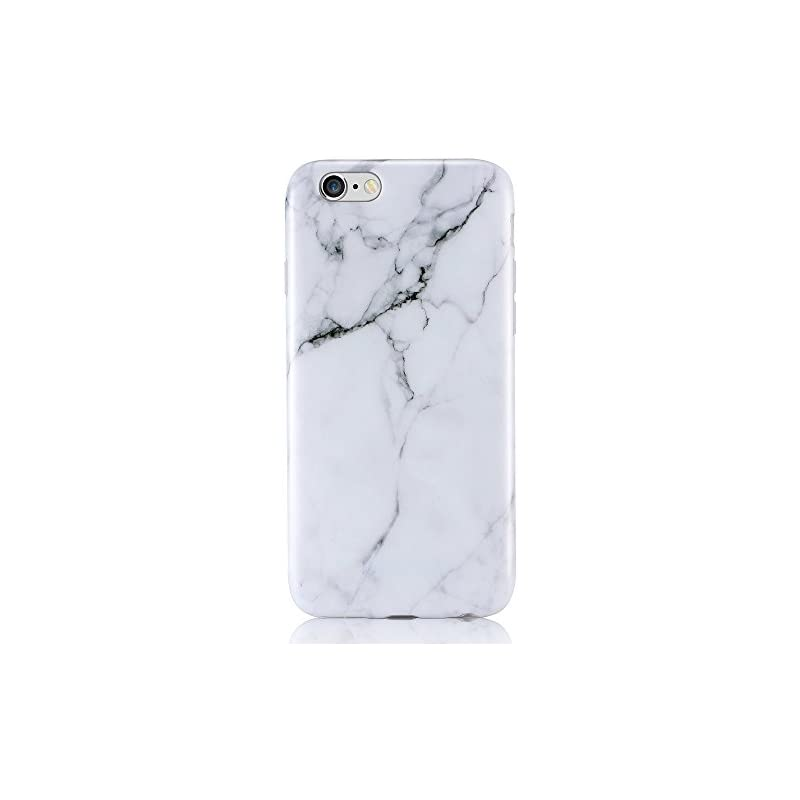 iPhone 6 6s Case, Leminimo White Marble