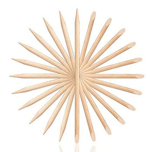 Set Di Strumenti Per Unghie Per Manicure Pedicure Pedicure Remover Pusher Remover 100 PCS Women Lady Wood Design Per Unghie Doppio-Fine ALLOMN