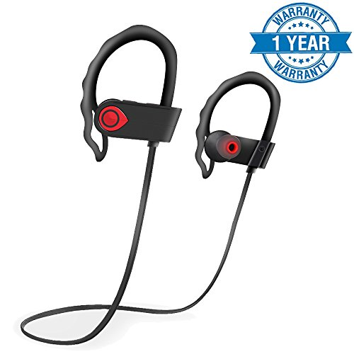 Wireless Sport Bluetooth Headphones,Waterproof In Ear HD Stereo Earphone ,Mic inside ,100 mAh battery ,Up to 8 Hours of Talk Time ,250 Standby Time Earbuds for Running Gym Headsets
