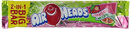 Airhead 2-in-1 Big Bar, Strawberry and Watermelon, Non Melting, 1.50 oz -