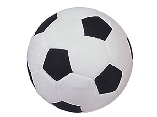 Jumbo Squeeze Soccer Ball-Shaped Anti-Stress Ball - Assorted Colors - One Piece -