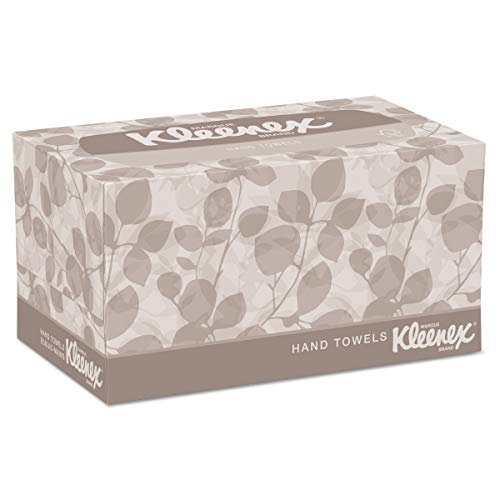 Kleenex 01701CT Hand Towels, Pop-Up Box, Cloth, 9 X 10 ½, 120 per Box (Case of 18 Boxes) by Kleenex