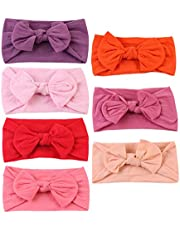 PRETYZOOM 7pcs Baby Hairbands and Bows Turban Headbands Headdress Bowknot Hair Bands for Kids Infant Baby