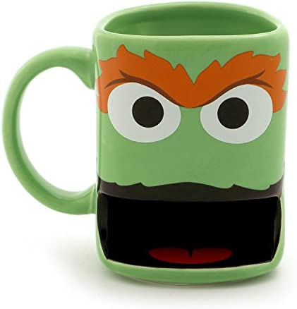 "Enesco Our Name is Mud ""Oscar the Grouch"" Sesame Street Slot Cookie Mug"
