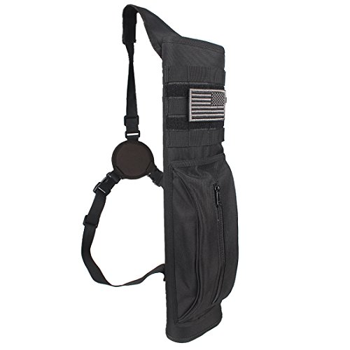 KRATARC Archery Multi-Function Heavy Duty Back Arrow Quiver with Molle System Shoulder Hanged Target Shooting Quiver for Arrows (Tactical Style)