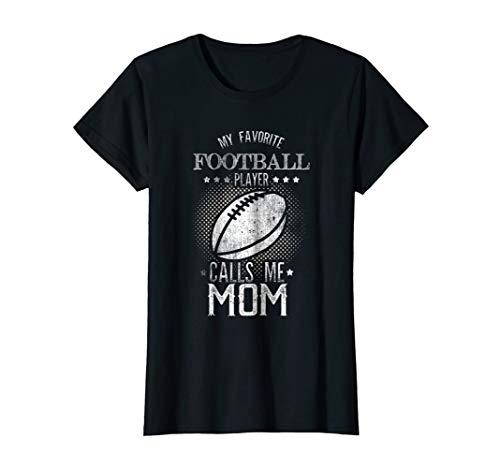 Womens my favorite player calls me mom tshirt football mom shirt]()