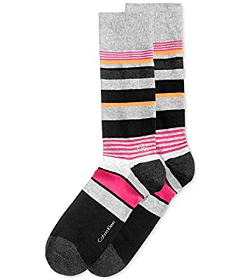 Calvin Klein Men's Multi-Stripe Crew Socks