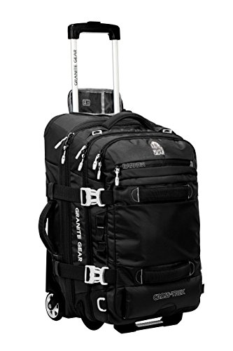 Granite Gear Cross-Trek 22'' Wheeled Carry-On Duffel - Black/Chromium by Granite Gear