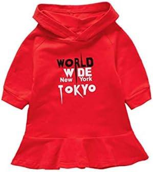 ファッション暖かいデザインテリー女の赤ちゃんのドレス子供の冬の暖かい服カジュアルコンパクトかわいい服-赤120 cm