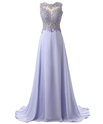 Callmelady Lace Appliqued Prom Dresses 2017 Long Evening Gowns for Women Formal (23 Colors)