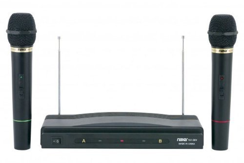 Naxa NAM-984 Dual Handheld Wireless Microphone Starter Kit with Wireless FM Receiver by Naxa Electronics