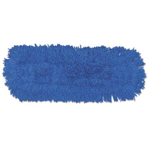 Rubbermaid Commercial Twisted Loop Blend Dust Mop, Synthetic, 24 X 5, Blue, Dozen