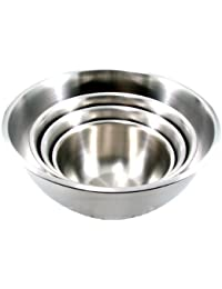 Get ChefLand Mixing Bowl, Large, Stainless Steel, Set of 4 Sizes - 3, 5, 8 and 13 Qt occupation