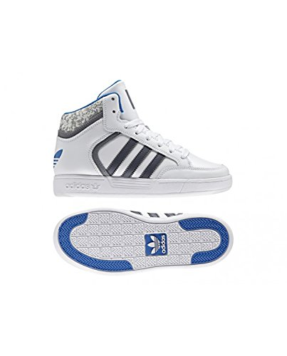 Adidas Varial Mid J Sneaker für Kinder, Weiß–(Ftwbla/grau/azucie) 28.5