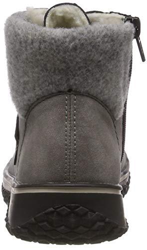 Gris Rieker Mujer Z4230 fog 40 schwarz grey Para Botines ZZpawxC