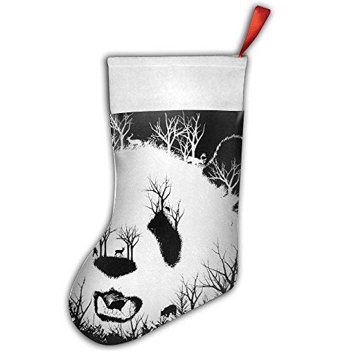 Panada Hill Deer Bear Christmas Hanging Stocking,Assorted Santa Gift Socks Hanging Accessories For Xmas Tree Decoration Only Printed One Side (Stencil Stocking Bear)
