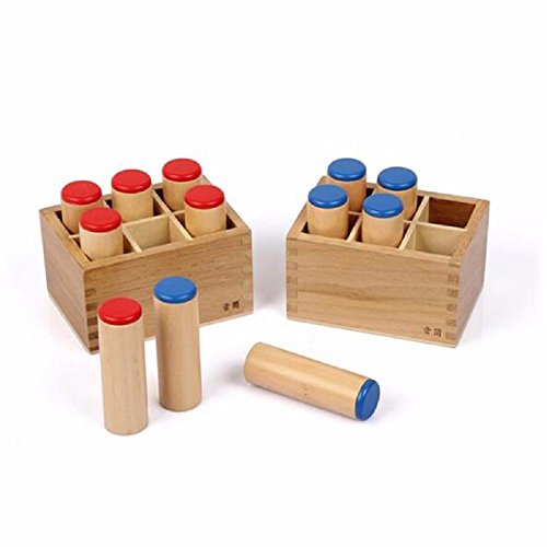 NEW Montessori Sensorial Auditory Material - Sound Cylinders Sound Boxes