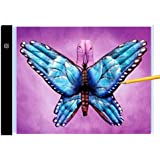 Diamond Painting A4 Ultra-Thin Portable LED Light Box Tracer USB Power Cable Dimmable Brightness LED Artcraft Tracing Light Pad for Artists Drawing Sketching Animation Stencilling X-ray Viewing