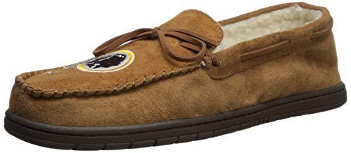(FOCO NFL Washington Redskins Football Team Logo Moccasin Slippers Shoes, Team Color, Large/Size 11-12)