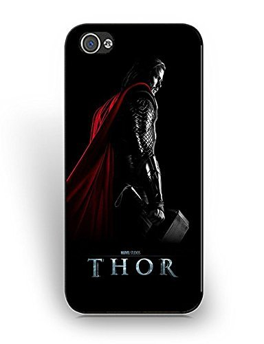 (Cover iPhone 5/5S) Case For Girls Cute And Protective,Cute Design Cover iPhone 5/5S Case Thor Movie Star Anti-Scratches Hard Geometric K6X2Po