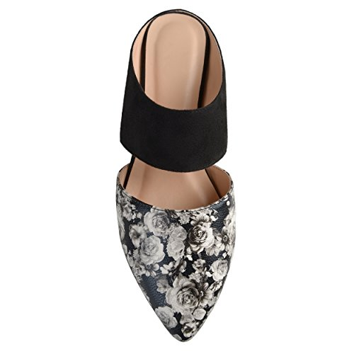 Co Suede Womens Leather Brinley Mules Faux Faux Slip On Floral dvZtH