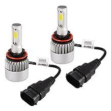 XCSOURCE 72W CREE LED Car Headlight H8/H9/H11 Halogen Lamp Bulb Built-in Cooling Fan 6500K White LD1053
