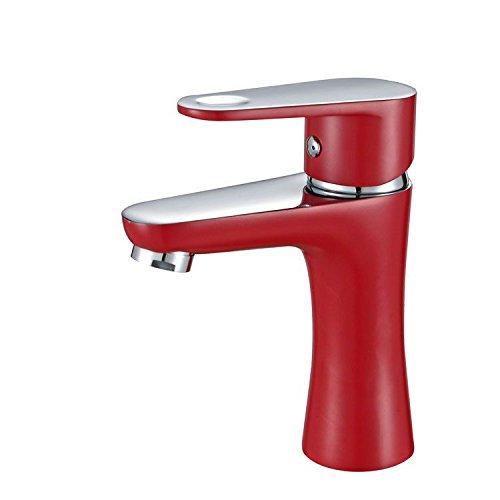 Gyps Faucet Waschtisch-Einhebelmischer Waschtischarmatur Badarmatur Badezimmerschrank Wasserhahn Wasserhahn Badezimmerschrank Farbe Wasserhahn Warmes und Kaltes BF1171 Rot,Mischbatterie Waschbecken