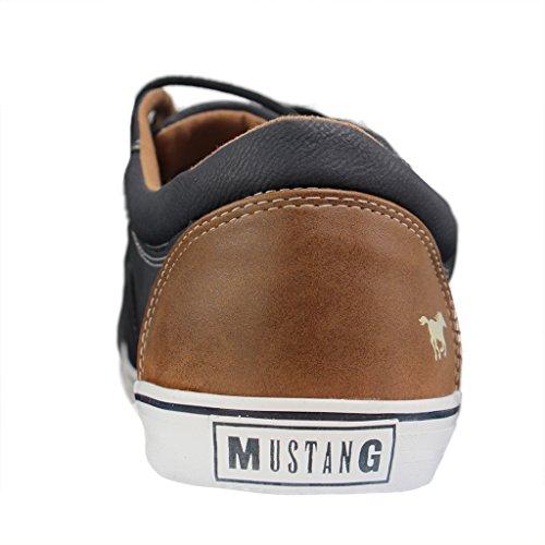 Mustang 4101-301, Zapatillas para Hombre, Azul (Dunkelblau 800) Azul