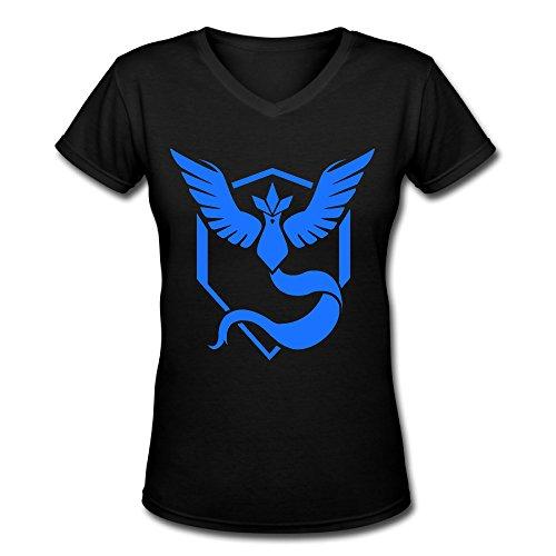Team Womens V-neck - TTATT Women's Team Mystic V-Neck Casual T Shirt Black