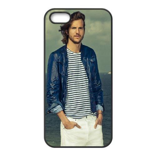 Ashton Kutcher Black Hair Celebrity Sea Advertising Actor coque iPhone 4 4S cellulaire cas coque de téléphone cas téléphone cellulaire noir couvercle EEEXLKNBC23123