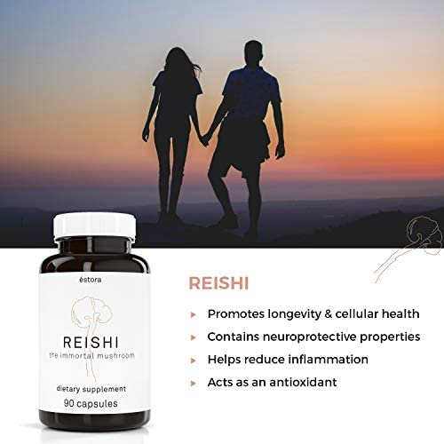 ESTORA Reishi Ganoderma Mushroom Vegan Supplement 90 Vegetable Capsules
